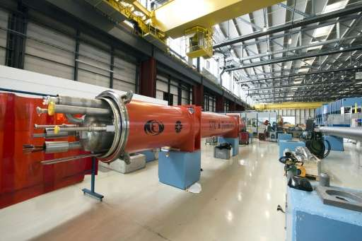 The Large Hadron Collider (LHC) Magnet Facility, which is used to train engineers and technicians, at the European Organisation