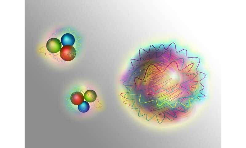 Мезон f0(1710) может быть глюонием, частицей из чистой ядерной силы