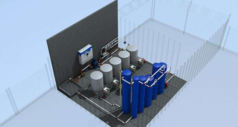 Sistem pengolahan air dengan 8 elemen pengurai