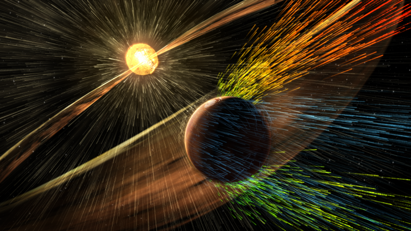 MAVEN mission reveals speed of solar wind stripping martian atmosphere