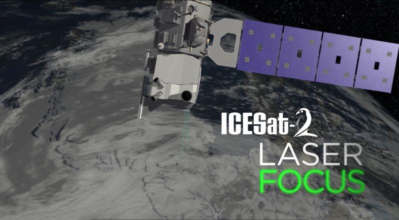 NASA tests ICESat-2's laser aim
