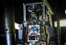 Navy unveils firefighting robot prototype at naval tech expo