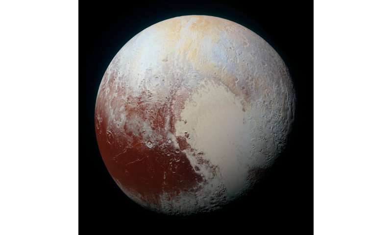 New Horizons reveals Pluto's striking surface variations and unique moon rotations