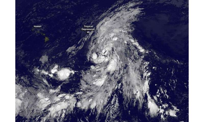 New tropical depression forms and moves into central Pacific Ocean