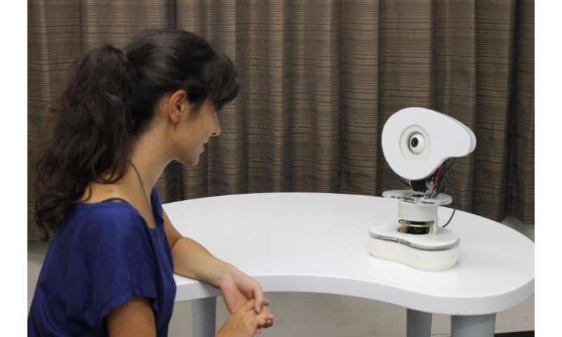 Robot's influent speaking just to get attention from you