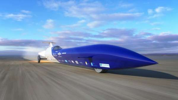 Rocket-powered car steers towards world speed record