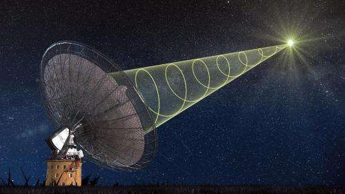 Snapshot of cosmic burst of radio waves