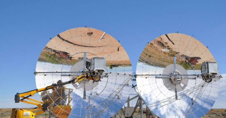 Solar initiative in africa has rotating dishes to follow the sun - Rotating homes follow sun ...