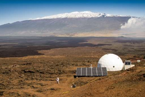 The exterior of the HI-SEAS habitat on the northern slope of Mauna Loa in Hawaii is seen in this March 10, 2015 image, courtesy