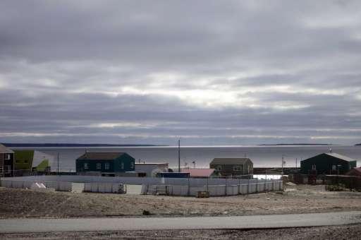 The Inuit village of Umiujaq, in Nunavik territory, Hudson Bay, Quebec