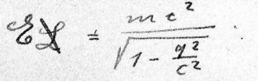 The oldest existing manuscript written by Albert Einstein on his theory of relativity and the revolutionary equation E=mc2