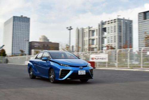 Toyota plans to produce 700 units of the four-door Mirai sedan—powered by hydrogen and emitting nothing but water vapour from it