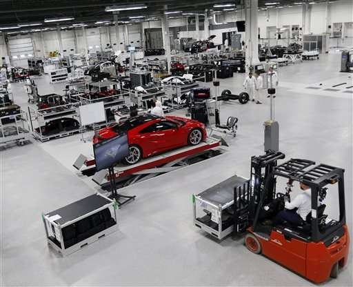 Acura brings NSX specialty car production to US
