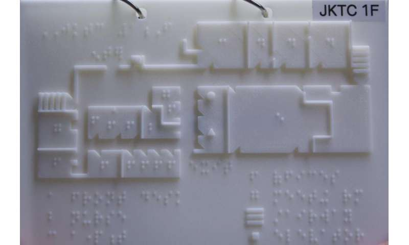 Braille maps for blind and visually impaired created with 3-D printer at Rutgers