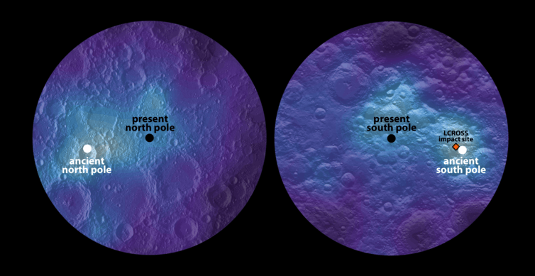 Dramatic change in the moon's tilt may help us trace the origin of water on Earth