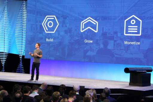 Facebook chief and co-founder Mark Zuckerberg discusses Messenger on April 12, 2016