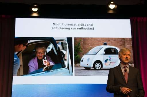 Google's Self Driving Car Project CEO John Krafcik speaks at the Automotive News World Congress in Detroit, Michigan, January 12