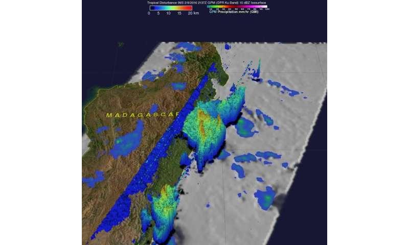 NASA data reveals tropical cyclone forming near Madagascar