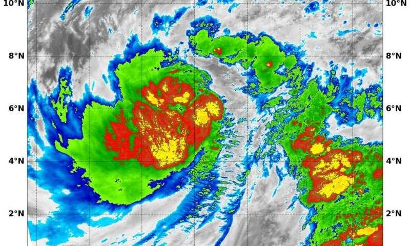 NASA investigates Tropical Storm Pali's temperatures, winds