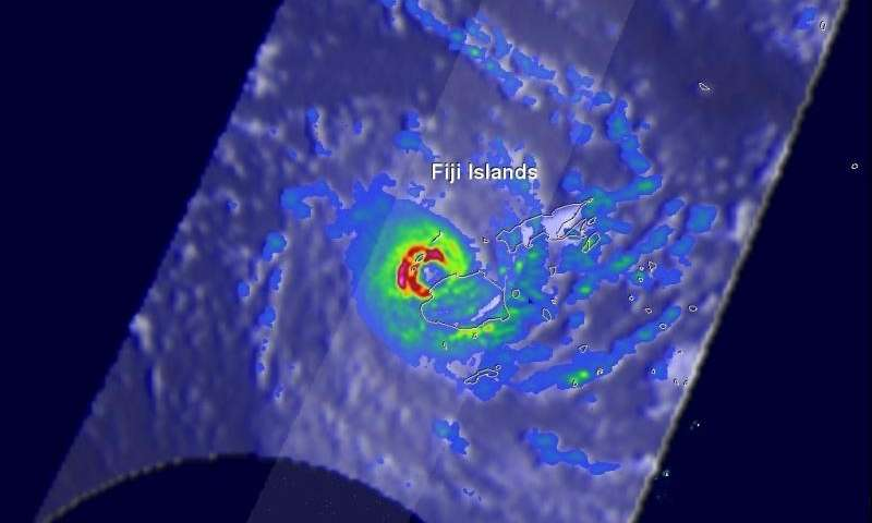 NASA sees category 5 southern Pacific Tropical cyclone hit Fiji