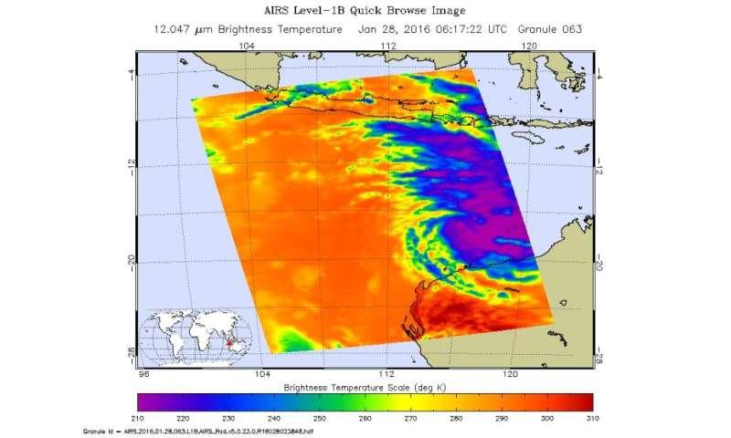 NASA Sees developing depression threatening northwestern Australia