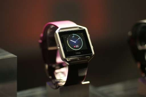 The FitBit Blaze—Fitbit remains a dominant player in wearable computing but faces heavy competion from the Apple Watch