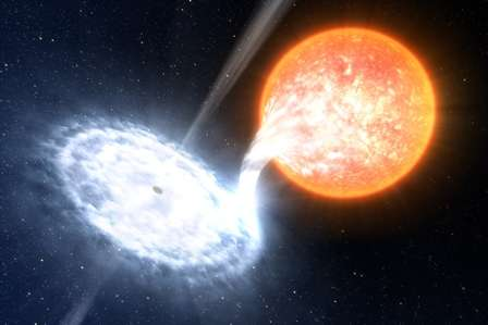 Astronomers see black hole raging red
