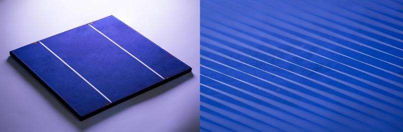 X-rays reveal how a solar cell gets its silver stripes
