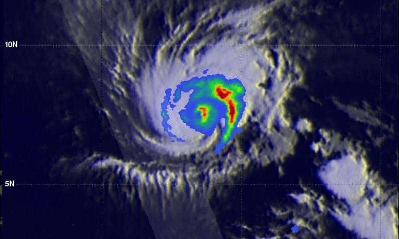 NASA analyzes Hurricane Pali's rainfall rates