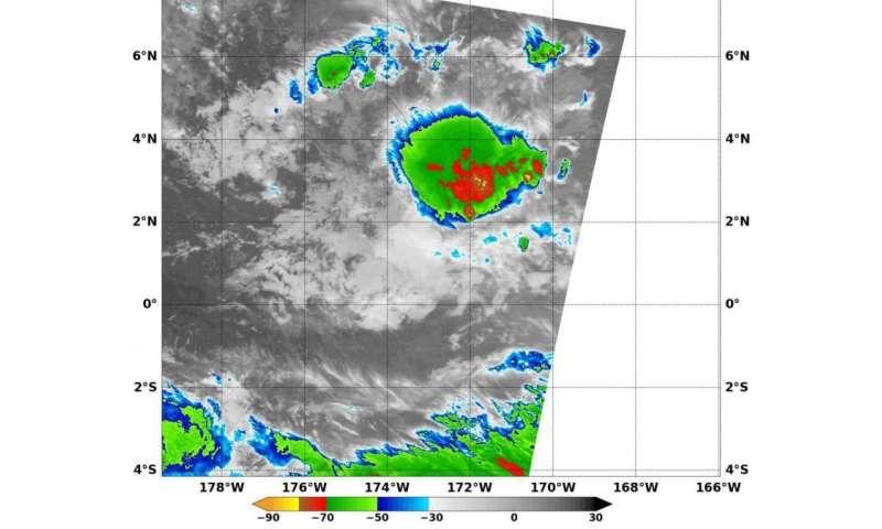 NASA sees Tropical Depression Pali headed toward Equator