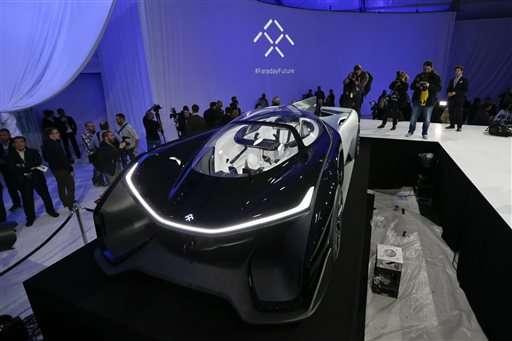 Faraday reveals sleek, sporty concept car in Vegas