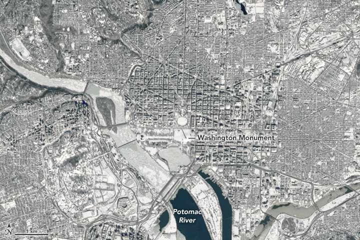NASA provides a look at post-blizzard snowfall and winds