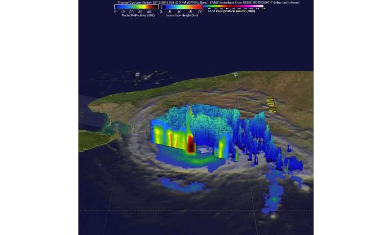 NASA provides 2 views of former Tropical Cyclone Vardah