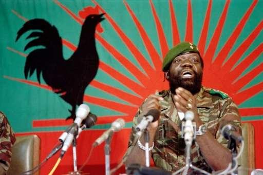 "Angolan rebel chief Jonas Savimbi, seen addressing soldiers in Jamba on December 11, 1985, is shown in ""Call of Duty"""