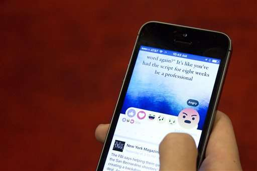 Facebook's 'like' button gets 'angry' and 'sad' as friends