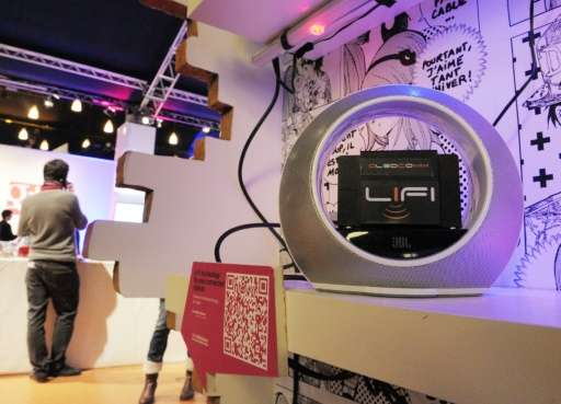 French start-up Oledcomm has unveiled its Li-Fi technology system—which uses light to connect users to the Internet