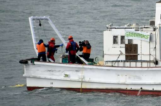 Greenpeace is surveying waters near the Fukushima plant, dredging up sediment from the ocean floorto check both for radiation &