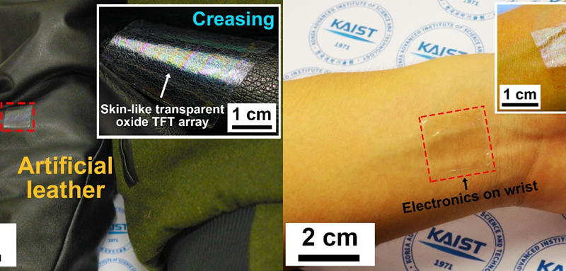KAIST develops ultrathin, transparent oxide thin-film transistors for wearable display