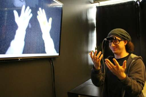 Leap Motion co-founder David Holz, at the San Francisco startup's headquarters, demonstrates finger tracking technology that let