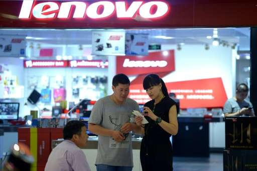 Lenovo has suffered from a decline in global demand for PCs, which account for around a third of its revenue despite its efforts