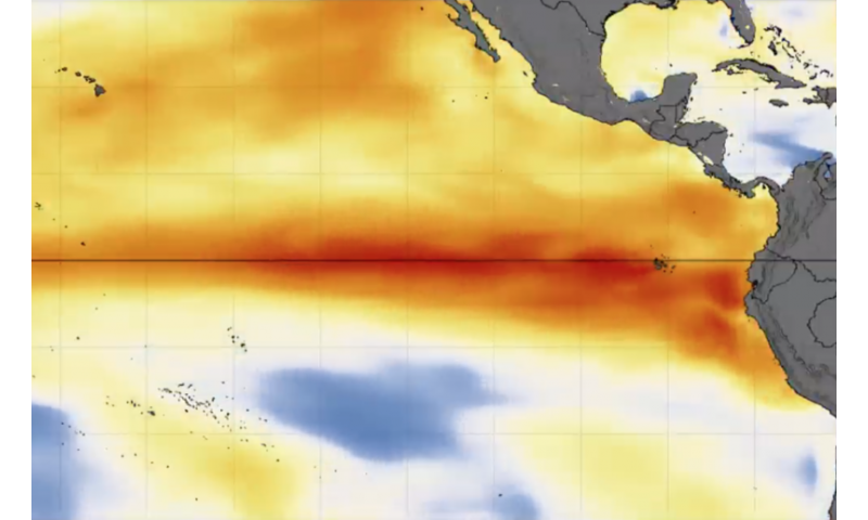 NASA sees a different kind of El Nino