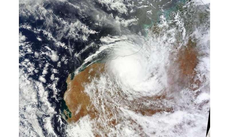 On jan 31 nasa s terra satellite captured an image of tropical