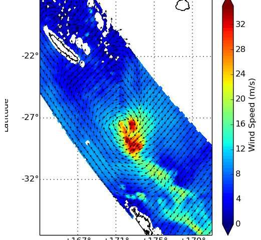 NASA sees Ula go extra-tropical