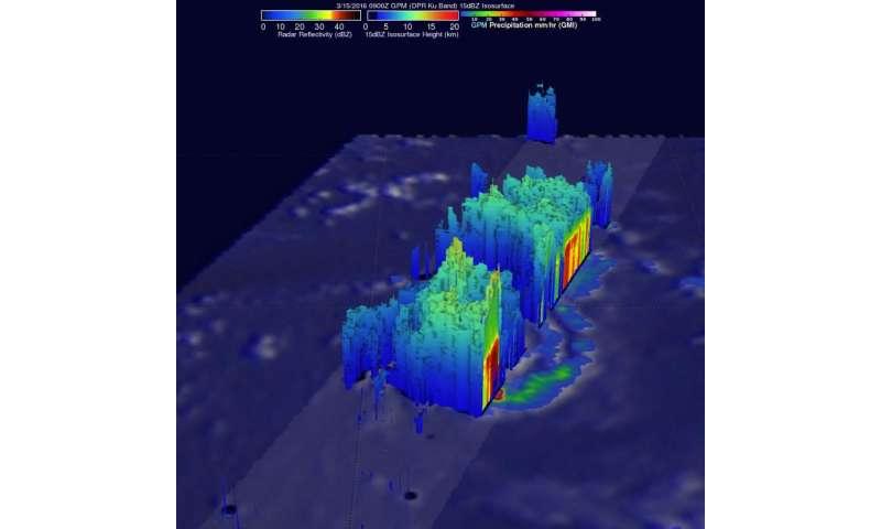 NASA's GPM spots Tropical Cyclone Emeraude developing