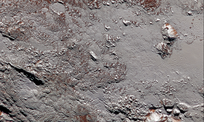 Pluto's Wright Mons in color