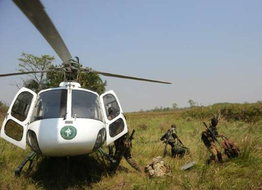 Rangers in Garamba National Park can come face to face with fighters from the Lord's Resistance Army (LRA), a Ugandan-led rebel