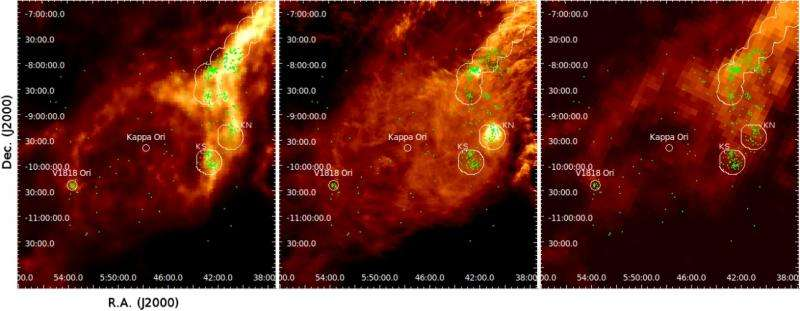 Star-forming ring spotted around distant supergiant star Kappa Ori