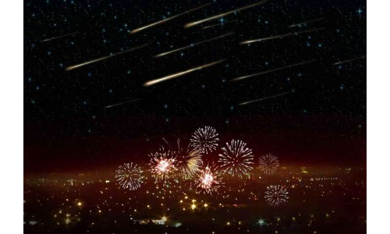 Surprise meteor shower on New Year's Eve