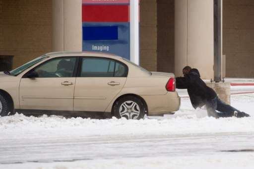 The brutal winter storm dumped heavy snow on the northern part of Texas on December 26