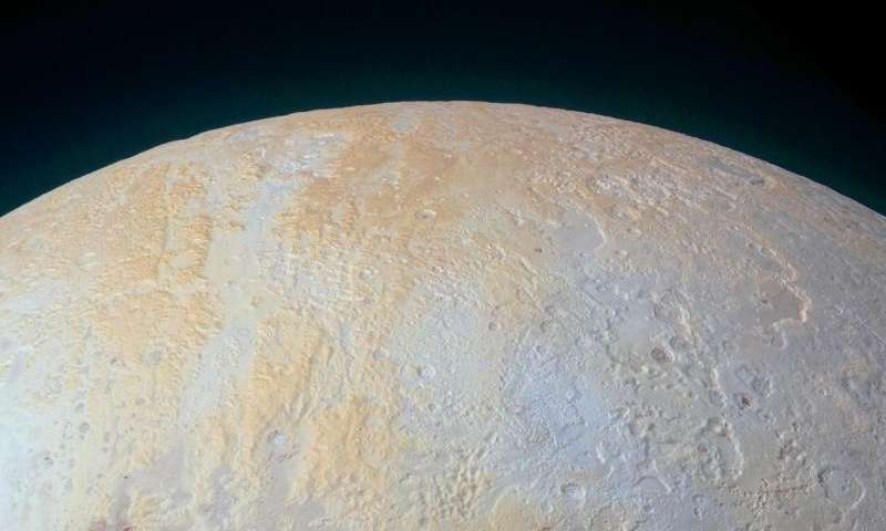 The frozen canyons of Pluto's north pole